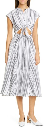 NSF Sally Cutout Tie Waist Midi Dress