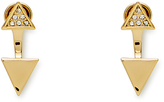Rebecca Minkoff Double Triangle Front Back Earring
