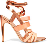 Rupert Sanderson Tallyho metallic leather sandals