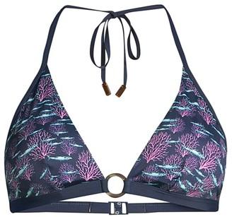 Vilebrequin Flechett Coral-Print Bikini Top
