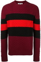 McQ by Alexander McQueen colour block jumper