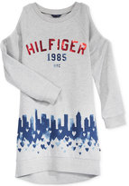 Tommy Hilfiger City-Graphic Cold-Shoulder Shirtdress, Big Girls (7-16)