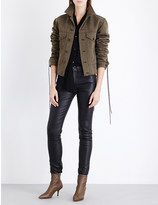 Haider Ackermann Lace-up wool and linen-blend jacket