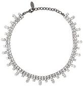 Elizabeth Cole Gunmetal-Tone Crystal Necklace