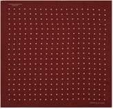 Turnbull & Asser Polka Dot Silk Pocket Square, Red