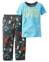 Carter's 2-pc. Serious Bedhead Pajama Set - Toddler Boys 2t-5t