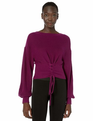 BCBGMAXAZRIA Women's Corset Sweater