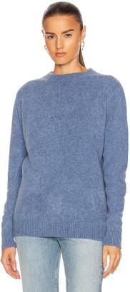 The Elder Statesman Simple Crew Sweater in Blue Jean | FWRD