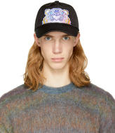 Kenzo Black Limited Edition Embroidered Tiger Cap