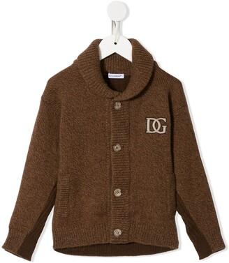 Dolce & Gabbana Kids Logo-Embroidered Wool Cardigan