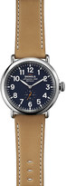 Shinola 11000141 Runwell stainless steel and leather watch