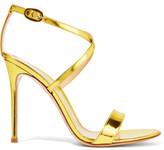 Gianvito Rossi Metallic Glossed-Leather Sandals