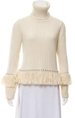 ebb836f4e29 Wool Cropped Turtleneck Sweater