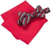 Alfani Men's Walsh Stripe Bow Tie & Pocket Square Set, Only at Macy's