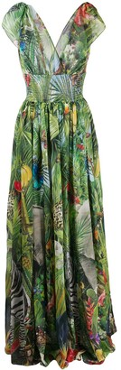 Dolce & Gabbana Jungle-Print Long Dress