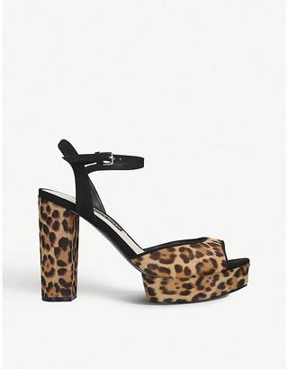 Nine West Gail leather platform sandals
