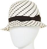 Scala Black and White Cloche Hat