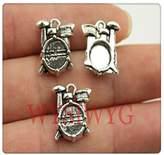 Nobrand No brand 3pcs 16144mm antique silver Drum charms