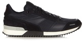 Ami Leather And Suede Panelled Trainers