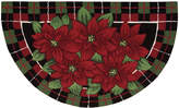 "Nourison Rugs, Holiday Poinsettia ""40x24"" Slice"