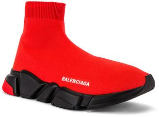 Balenciaga Speed Light Knit Sneaker in Red | FWRD