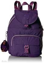 Kipling Queenie Solid Backpack with Printed Straps