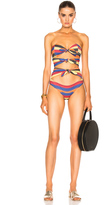 Lisa Marie Fernandez Triple Poppy Striped Swimsuit