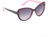 Betsey Johnson Pink & Black Oversize Sunglasses