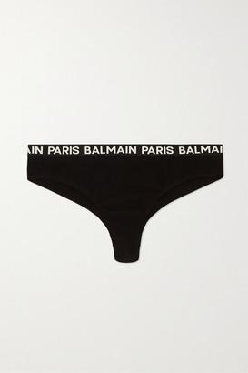 Balmain Stretch-cotton Jersey Briefs - Black