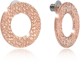 Rebecca R-Zero Rose Gold Over Bronze Stud Drop Earrings