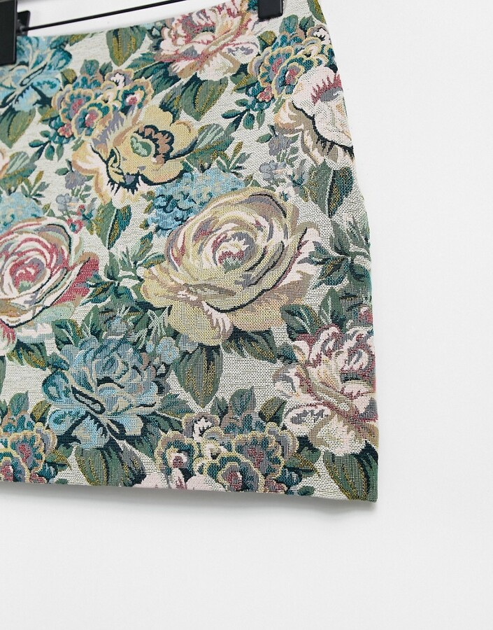 Thumbnail for your product : And other stories & organic blend cotton co-ord floral jacquard mini skirt in multi