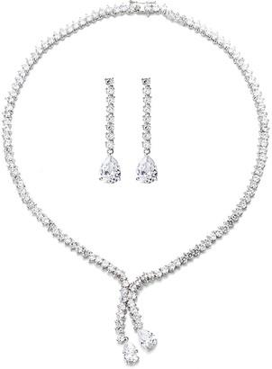 Eye Candy Los Angeles Cz Necklace & Earrings Set