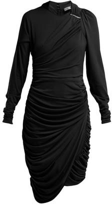 Preen by Thornton Bregazzi Alex Crinkled-georgette Ruched Midi Dress - Black