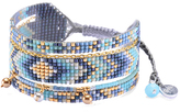Mishky Blue Medly Bead Cuff