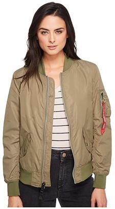 Alpha Industries L-2B Scout Jacket (Black) Women's Coat