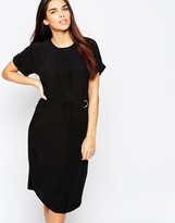 Warehouse Belted Oversized Shift Dress
