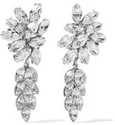 Ben-Amun Silver-Plated Crystal Clip Earrings