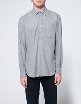 Gitman Brothers Popover Flannel in Grey