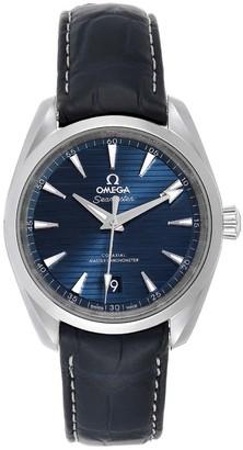 Omega Blue Stailnless Steel Seamaster Aqua Terra 220.13.38.20.03.001 Men's Wristwatch 38 MM