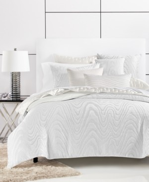 Hotel Collection Closeout! Moire King Duvet Cover, Created for Macy's Bedding