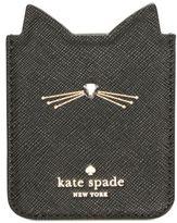 Kate Spade Embellished Cat Sticker Phone Pocket