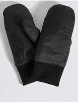 M&S Collection Cuff Ribbed Mitten Gloves