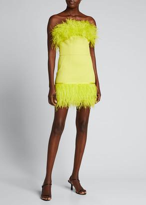 Bronx and Banco Lola Feather Trim Bustier Dress
