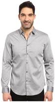 Calvin Klein Long Sleeve Twill Herringbone Button Down Shirt