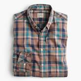 J.Crew Secret Wash shirt in khaki plaid