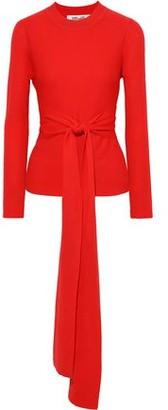 Diane von Furstenberg Devin Tie-front Merino Wool Sweater