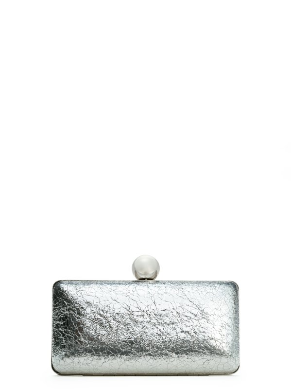 Milly Leather Handbag - Gold & Silver Lola Collection Minaudiere