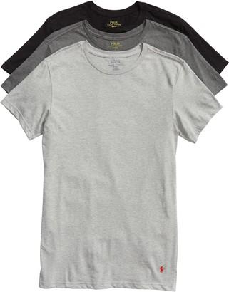 Polo Ralph Lauren 3-Pack Slim Fit Crewneck T-Shirts