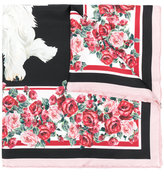 Dolce & Gabbana dog printed scarf