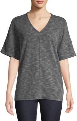 Jones New York Short Sleeve V-Neck Cocoon Top